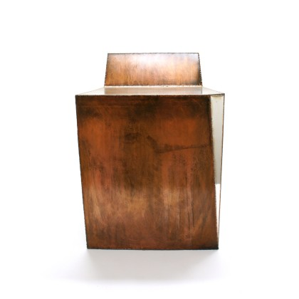 Rusted&Polished stool - Caption